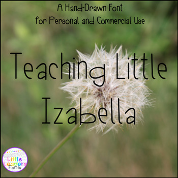 Teaching Little Izabella Font for Commercial Use