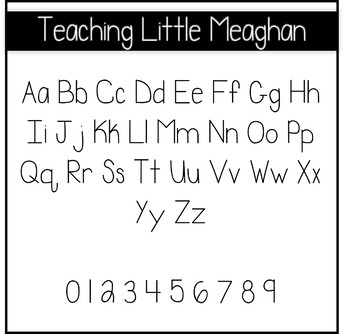 Teaching Little Meaghan Font for Commercial Use