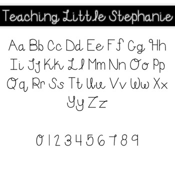 Teaching Little Stephanie Font for Commercial Use