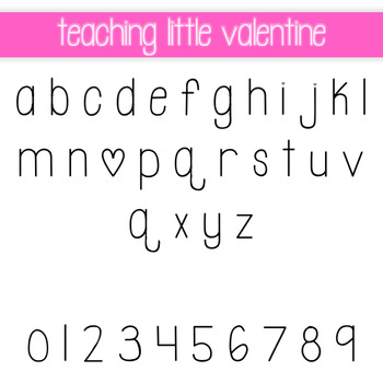 Teaching Little Valentine Font Freebie for Personal and Commercial Use