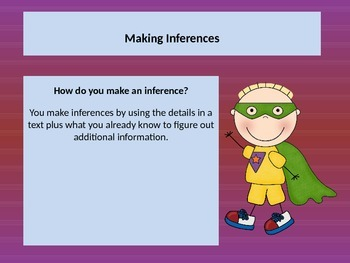 Teaching MAKING INFERENCES with a POWERPOINT Preasentation. Lesson.