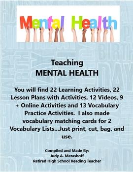 Teaching MENTAL HEALTH Supplemental Activities