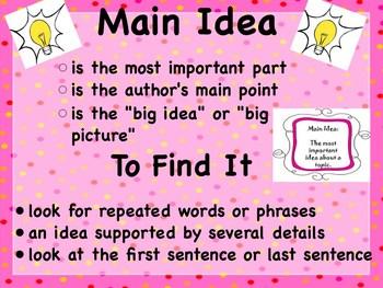 Teaching Main Idea and Details Using Chrysanthemum