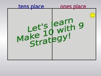 Teaching Make 10 with 9 and Make 10 with 8 Addition Fact S