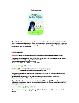 Teaching Materials to use with A Puppy for the White House
