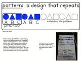 Teaching Math Patterns K, 1, 2 Resource