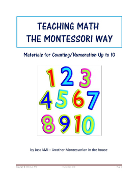 Teaching Math the Montessori Way - Materials for Counting/Numeration Up to 10