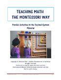 Teaching Math the Montessori Way - Parallel Activities to the Decimal System
