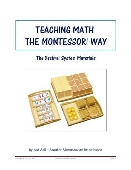 Teaching Math the Montessori Way - The Decimal System Materials