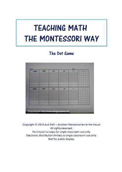 Teaching Math the Montessori Way - The Dot Game
