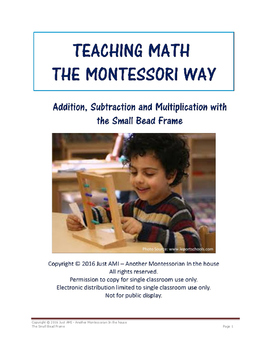 Teaching Math the Montessori Way - The Small Bead Frame