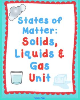 Teaching Matter in Kindergarten