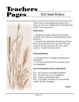 Birds - Bird Seed Botany