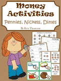 Money Activities ~ Pennies, Nickels, and Dimes