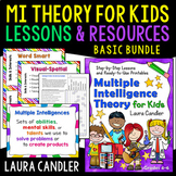 MI Theory for Kids Basic Bundle: Survey, Lessons, Activities, and Printables