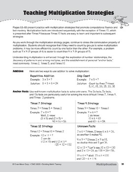 Teaching Multiplication Strategies, Grades 4-6+