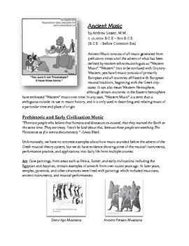 Teaching Music History - Ancient Music