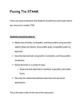 5th Grade Math STAAR TEK 5.2A Interactive Activity (2014-2015)
