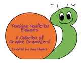 Teaching Nonfiction Elements: A Collection of Graphic Organizers