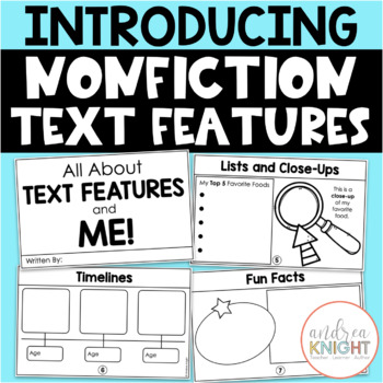 Introducing Nonfiction Text Features {K-2 Student Book}