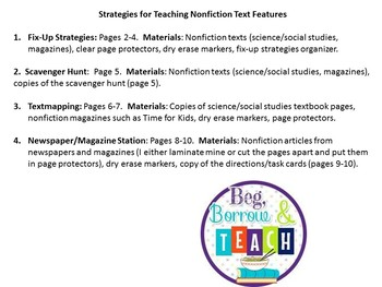 Teaching Nonfiction Text Strategies