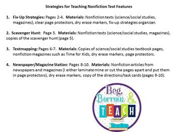 Teaching Nonfiction Text Strategies