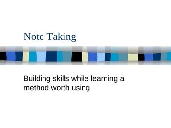 Teaching Notetaking Skills - Based on the Cornell Method