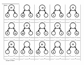 Number Bonds and Ten/Twenty Frame Mats