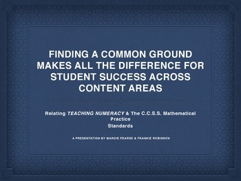 Using Reading Strategies to Promote the Standards for Mathematical Practice