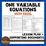 Teaching One Variable Equations with Excel
