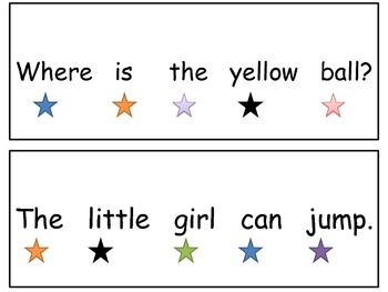 Teaching One to One Corresondence through Sight Words(PRE-PRIMER AND PRIMER)