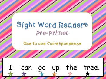 Teaching One to One Corresondence through Sight Words(PRE-