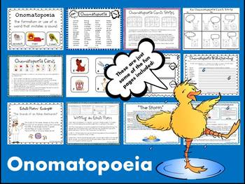 onomatopoeia lesson Onomatopoeia examples onomatopoeia is when a word's pronunciation imitates its sound when you say an onomatopoeic word, the utterance itself is reminiscent of the sound to which the word refers.