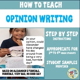 How to Teach Opinion Writing - Step by Step Prompts, Second Grade