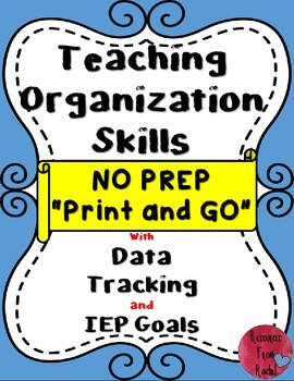 Teaching Organization Skills in the classroom-Special Education #AcceptAutism