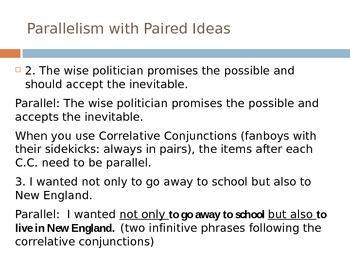 Teaching Parallelism- Power Point Presentation