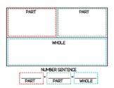 Teaching Part Part Whole Number Bond Mat, Activity, Worksheets