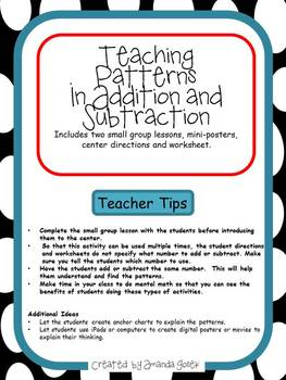 Teaching Patterns in Addition and Subtraction