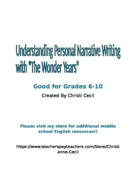 Teaching Personal Narrative with a Video