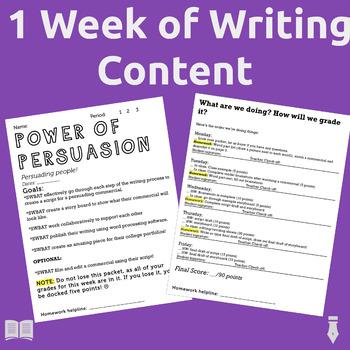 Teaching Persuasion: A comprehensive, week-long packet!