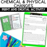 Physical and Chemical Changes Nonfiction Reading Article and Activity