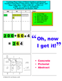 Teaching Place Value Using Place Value Pieces, Strips, and