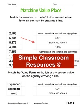 Teaching Place Values (Slideshow + Worksheets)