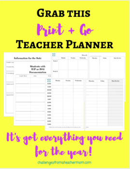 Teaching Planner + Organizer