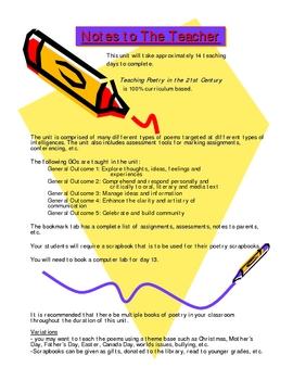 Teaching Poetry In The 21st Century Grade 7