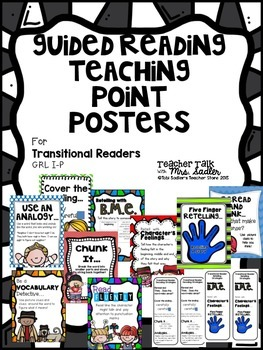 Teaching Point Posters for Transitional Guided Readers Levels I-P
