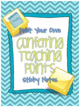 Teaching Point Printable Sticky Notes for Readers Workshop Conferring