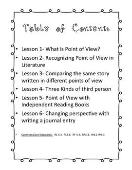 Teaching Point of View through Literature