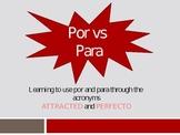 Teaching Por and Para Through Acronymns PowerPoint