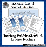 Teaching Portfolio Checklist for New Teachers or Teacher Interview